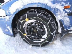 Winterbanden met sneeuwketting eromheen!