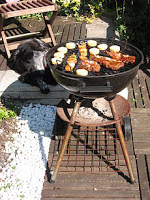 vlees dat over is van barbecuen